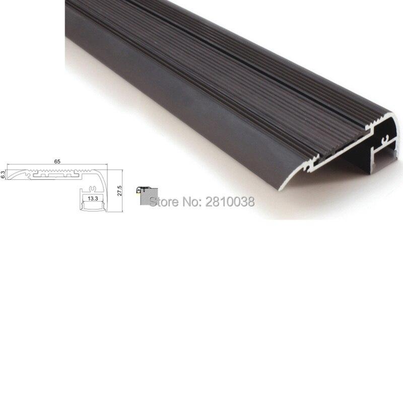 10 X 1M Sety / Lot krok schodiště vedl hliníkový profil kanálu a alu vytlačování světla pro schody žebříky