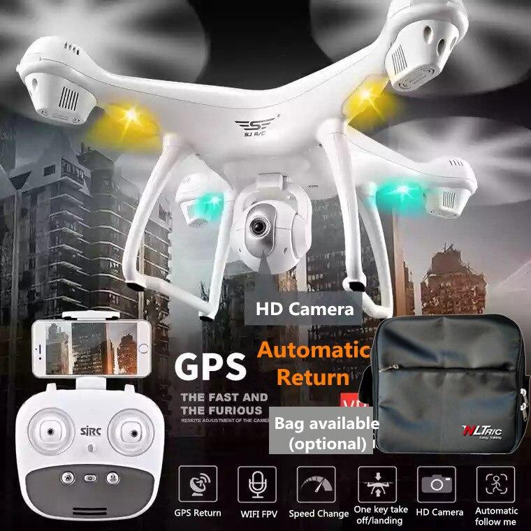 SJD S70W Double GPS Suivre Me WIFI FPV RC Drone Hélicoptère 400 M 1080 P grand angle caméra GPS position quadcopter vs X183 x21