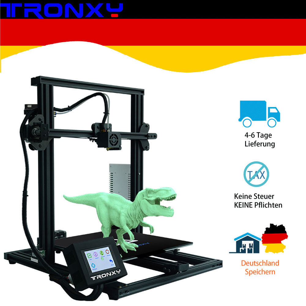 Hot sale Tronxy Full metal 3D Printer Tronxy XY-3 Fast Assembly Magnetic Heat Paper 310*310mm hotbed 0.25KG PLA Filament as gift image
