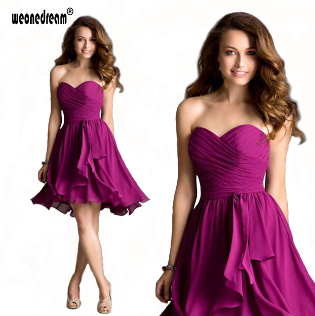 2017 Sexy Short Cheap Chiffon Evening Dresses Under 50 Off Shoulder Strapless Party Quinceanera Desses Mini Formal Evening Gown