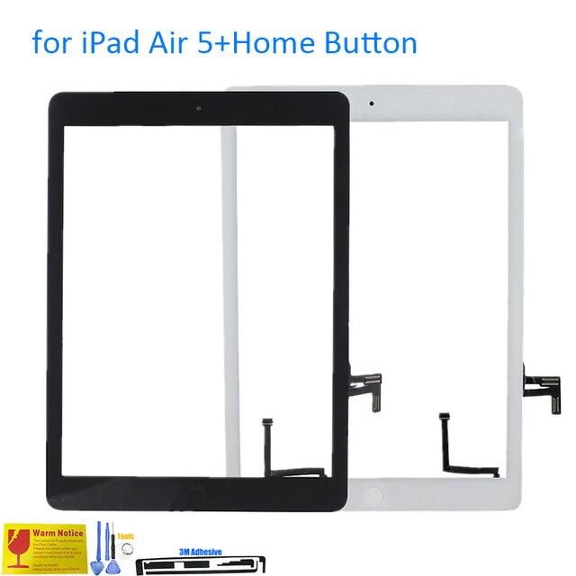 ALANGDUO для iPad Air 5 A1474 A1475 A1476 Apple Touch Screen Digitizer Стеклянная Панель Замена Сенсорный Экран с Home Button