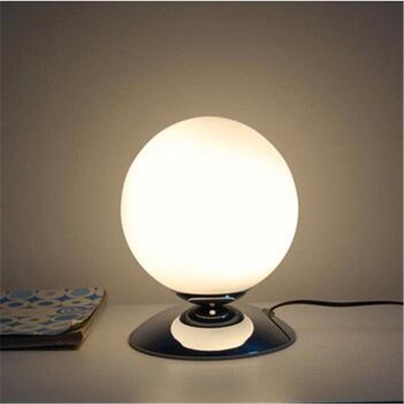 Lights & Lighting Hospitable Modern Bried Fashion Milk White Glass Ball Led E27 Table Light For Bedroom Bedside Living Room Bar Ac 80-265v 1301