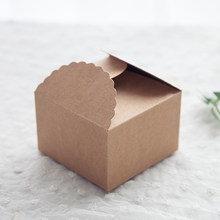 10 Pcs Craft Paper Wedding Favor Boxes DIY Gifts Candy Chocolate Sweets Party Box 9x9x6cm (Without Rope)(China)