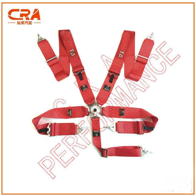 2016 Recién Llegado de TA 3 pulgadas 5 puntos de Liberación Rápida Rojo Racing Cinturones de Seguridad/Cinturones de Seguridad/Arnés