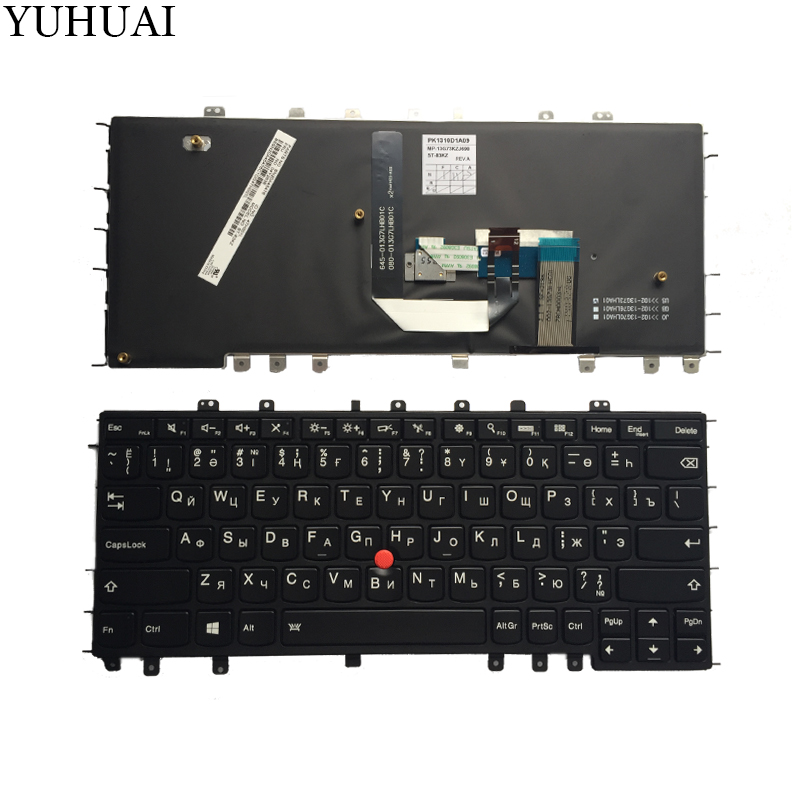 NEW KZ/RU keyboard FOR Lenovo Thinkpad Yoga S1 S240 Russian/Kazakhstan Laptop Keyboard Backlit Black original new russian ru folio keyboard for laptop lenovo thinkpad helix gen 2 folio touch keyboard leather case 03x9131