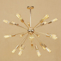 Europa nowoczesne złoty żyrandol satelitarny wiszące światła LED lampa opcjonalnie schody złota do rur rury żelaza światło dla kawiarnia restauracja