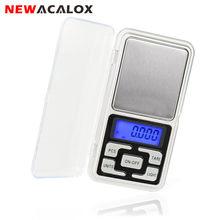 NEWACALOX 100g x 0,01g Mini Digital de precisión de bolsillo escala de la joyería de las unidades de visualización electrónico de bolsillo escalas peso