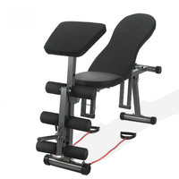 5 in 1 Ab Bench, Dumbbell stool, abdominal board, Slant Board, Push up Exercise, Decline Folding Bench with adjustable grade