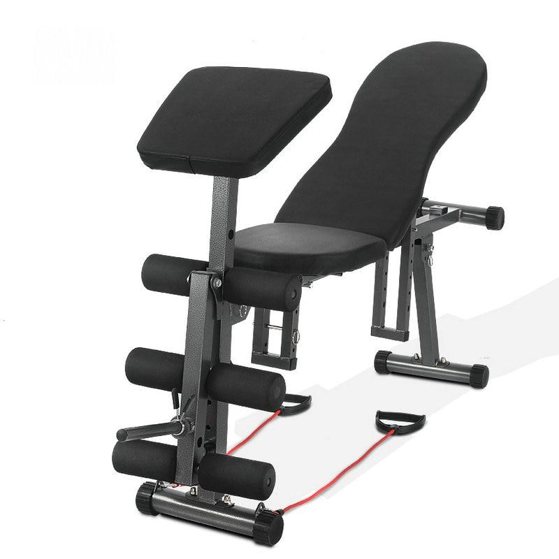 Banc 5 en 1 Ab, tabouret haltère, planche abdominale, planche inclinée, exercice push-up, banc pliable avec grade réglable