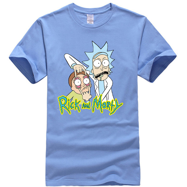 Men's high quality T-shirt 100%  cotton rick and morty printed 5
