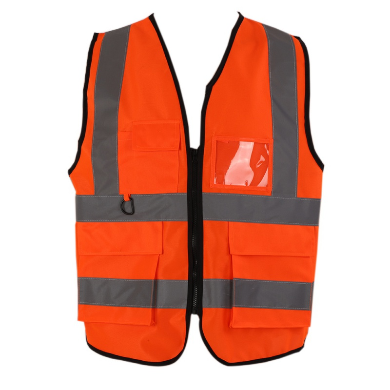 High Visibility Reflective Vest Workplace Road Working Clothes Motorcycle Outdoor Reflective Cycling Sport Safety Clothes