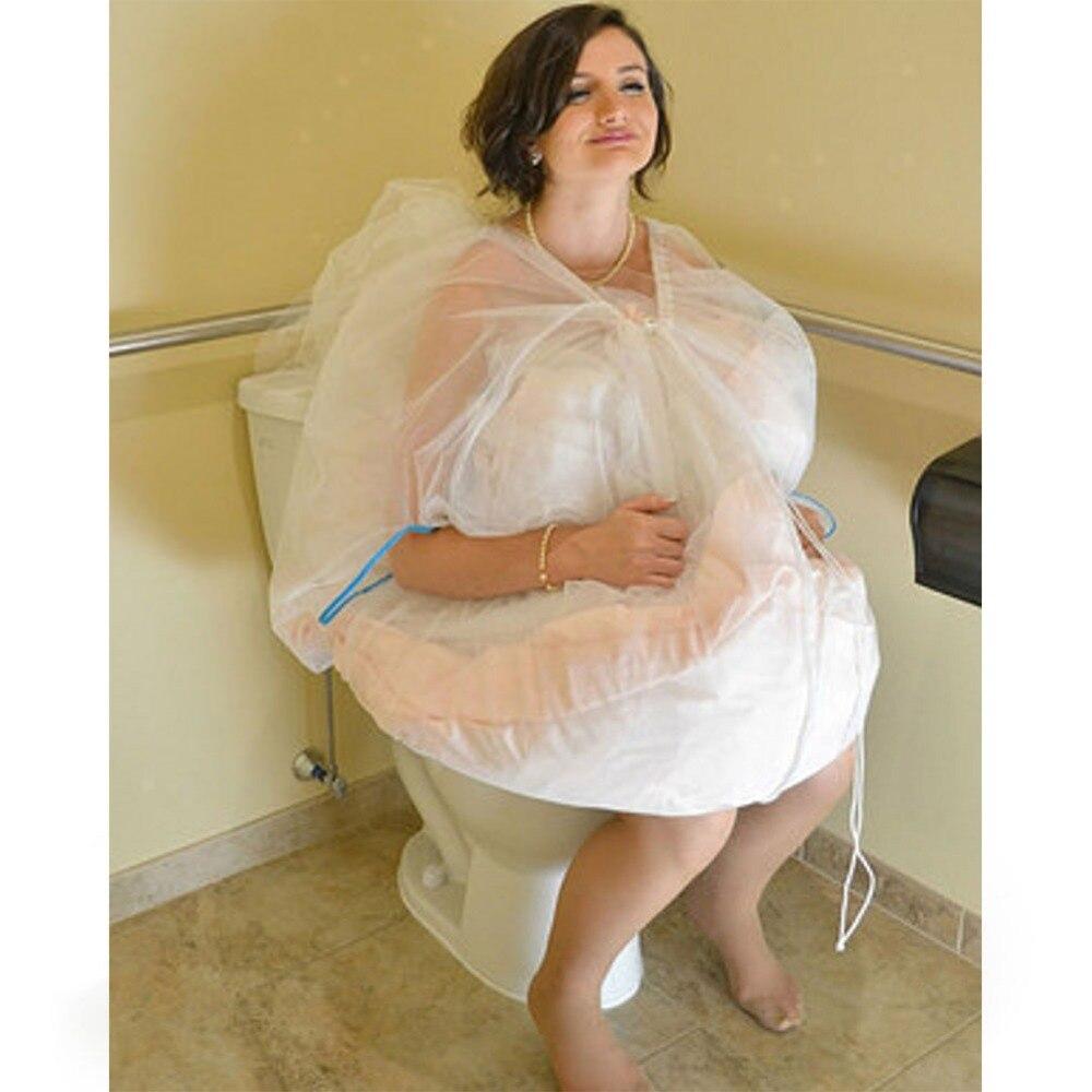 8045acc96729f Livraison gratuite en Stock jupon de mariée rassembler jupe Slip toilette  jupon enregistrer robe de mariée