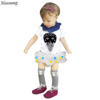 Niosung Infant Toddler Kids Baby Boy Girl Short Sleeve Print T Shirt Tops Clothes Kids Child