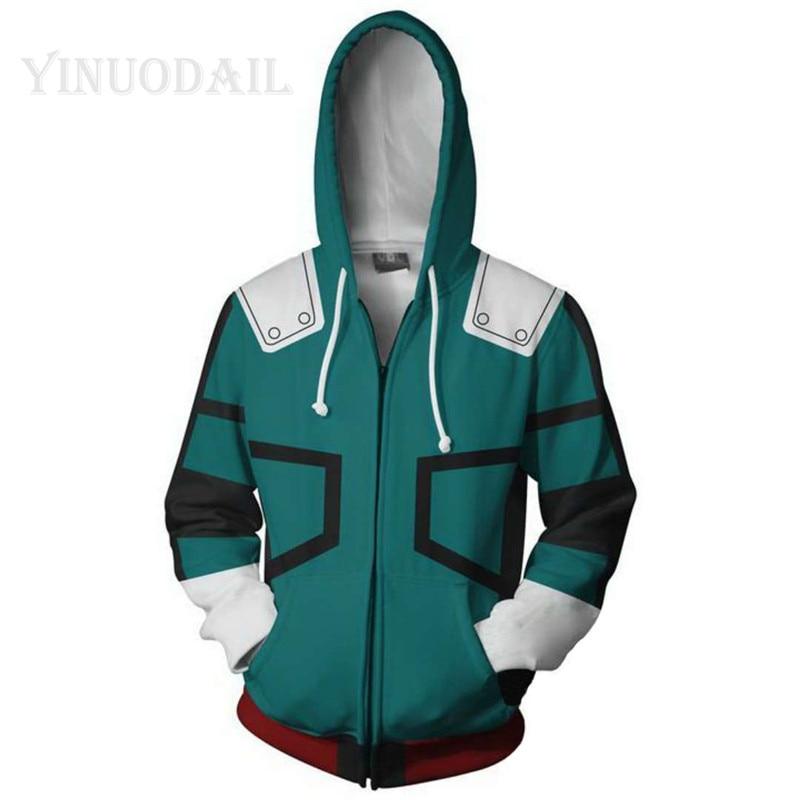 100cm-150cm Boku No Hero Academia Unisex Sweatshirt Hoodies Children 3D Printed Streetwear Hip Hop Warm Hooded for Kids