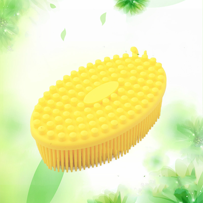 Baby bath brushes ultra soft silicone bath and shower massage brush shampoo brush gentle touch cleaning brush children\'s makeup (5)