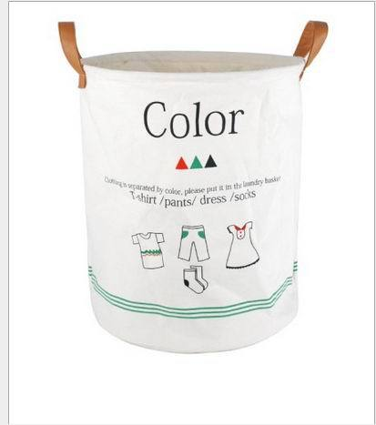 2015 newest 100% cotton laundry bag with PU handle
