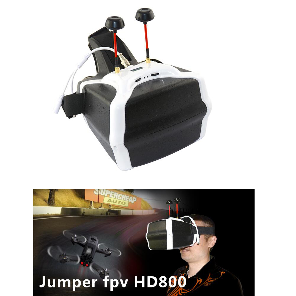 HD 800*480 Jumper HD800 FPV 3D Video Glasses Multi axis Drone 5.8G 40CH Dual Receiving