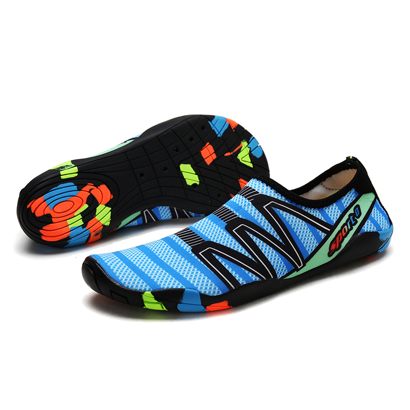Unisex Upstream Wading Shoes Aqua Water Shoes Men Women Light Soft Outdoor Sports Swimming Fitness Yoga Shoes Training Sneakers
