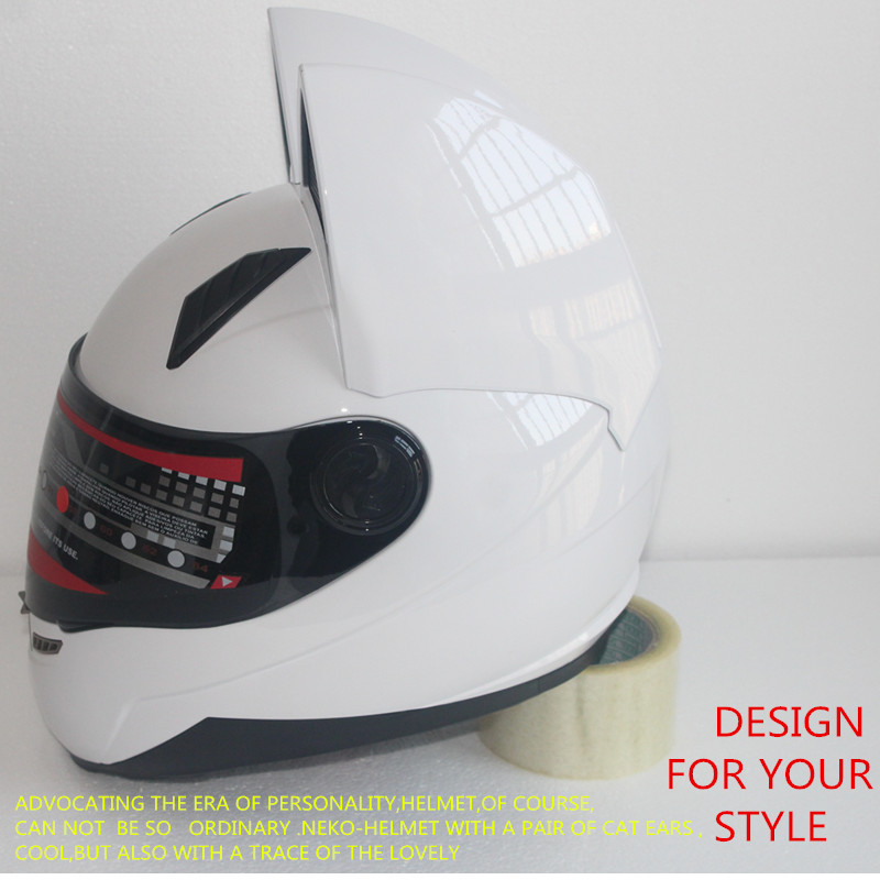 Full face motorcycle cat ear helmet 4