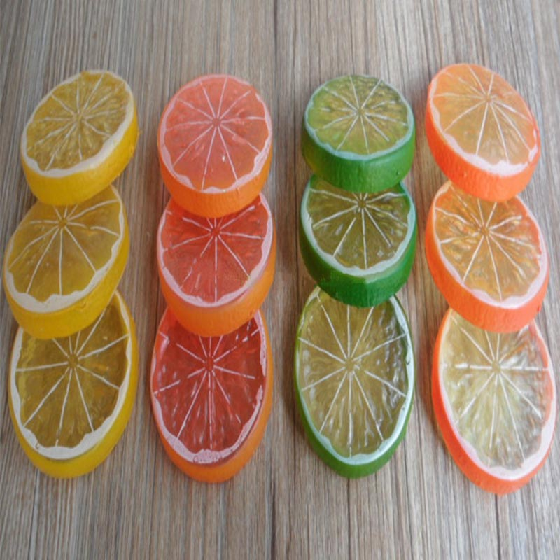 Online buy wholesale artificial lemon slices from china for Artificial fruit decoration