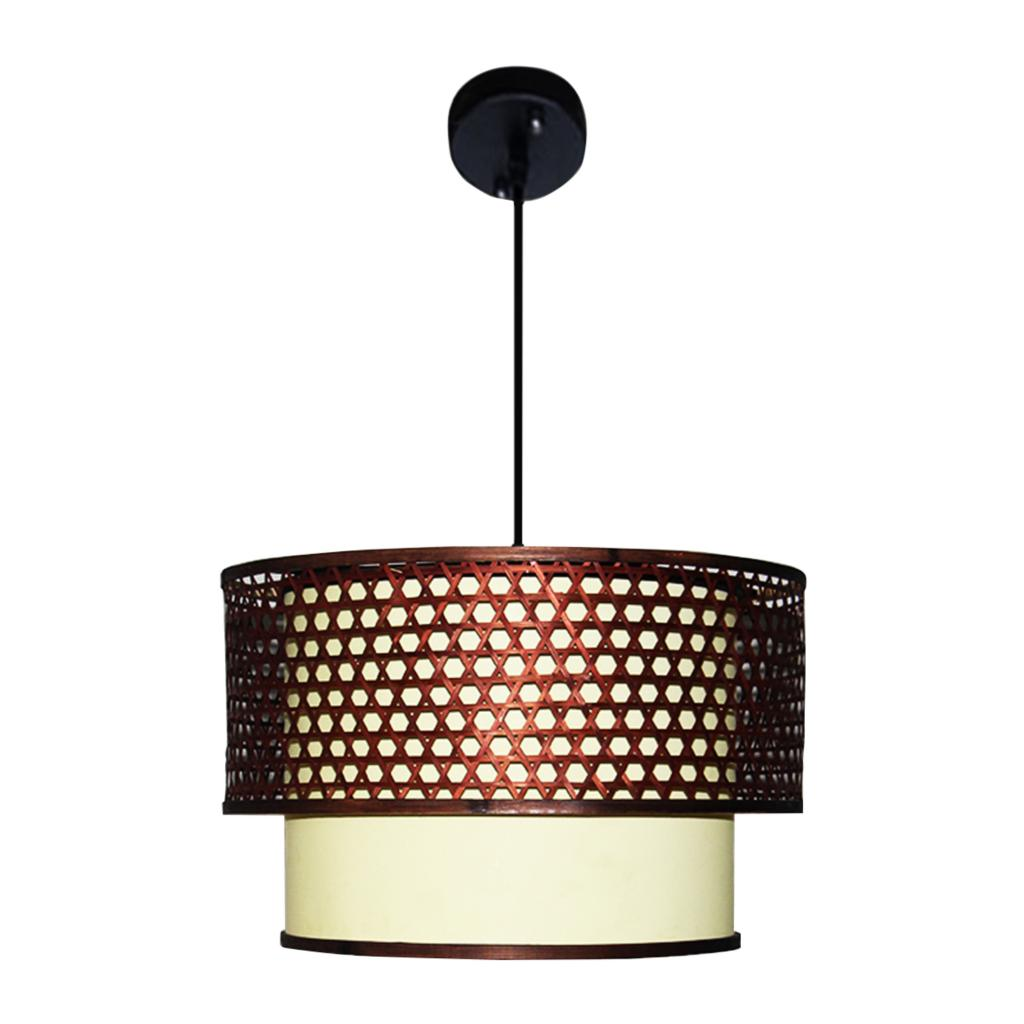 Modern Pendant Light Southeast Asia Hand Knitting Drum Lamp Chinese Droplight Cafe Dining Room Lighting Decor Levodecor In Lights From