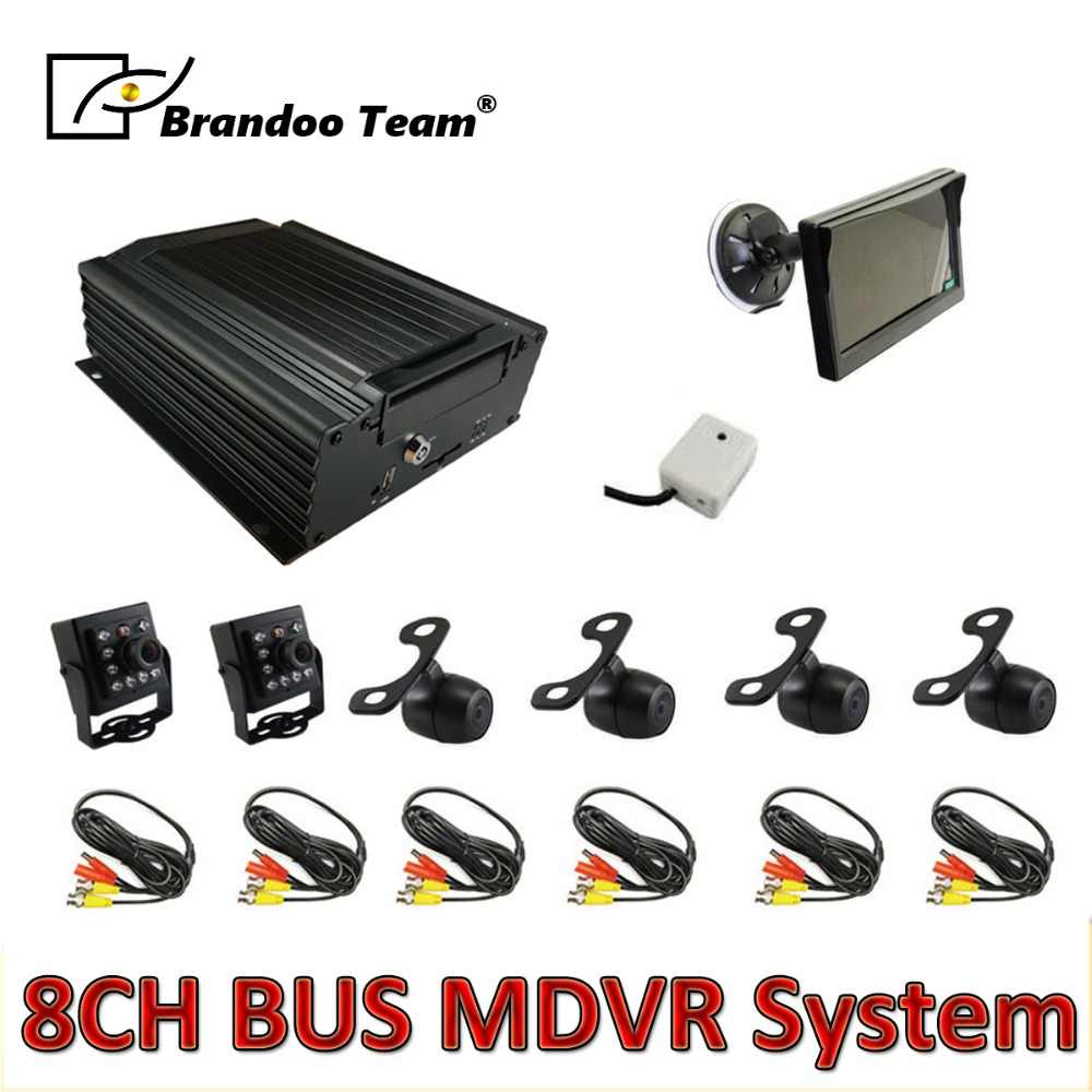 6 Pcs Camera Mdvr Kit, 8 Kanaals Hdd 960H Auto Dvr Kits Voor Bus, Gratis Verzending