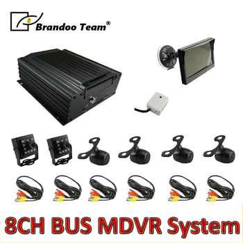 6pcs camera MDVR kit ,8channel HDD 960H car DVR kits for bus ,free shipping - DISCOUNT ITEM  5% OFF All Category
