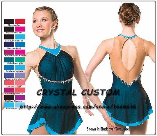 308e97bbf Adultos de patinaje vestido elegante nueva marca de las mujeres vestidos de  patinaje sobre hielo para