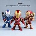 Buena Nuevo Control de Voz Que Brilla Intensamente Iron Man Figura de Acción de Marvel Los Vengadores Ironman Patriota Robot Toy Boy Modelo de Colección de Regalo