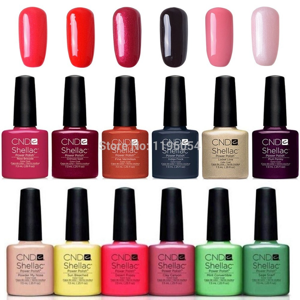Aliexpress.com : Buy 7Pcs/lot CND Shellac Gel Polish Long