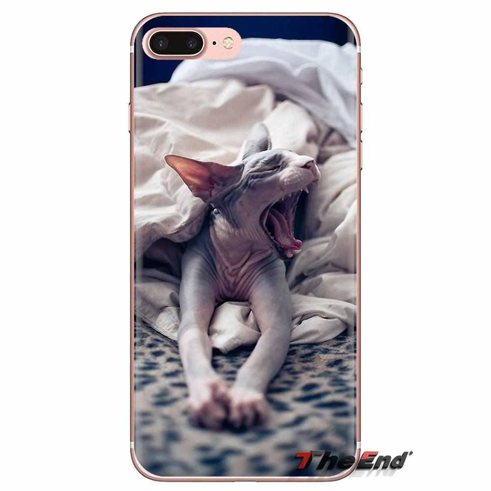Przezroczysty miękki pokrowce na przyjaznych sphynx kot kitty dla Xiaomi Redmi 4A S2 uwaga 3 3 S 4 4X5 Plus 6 7 6A Pro Pocophone F1