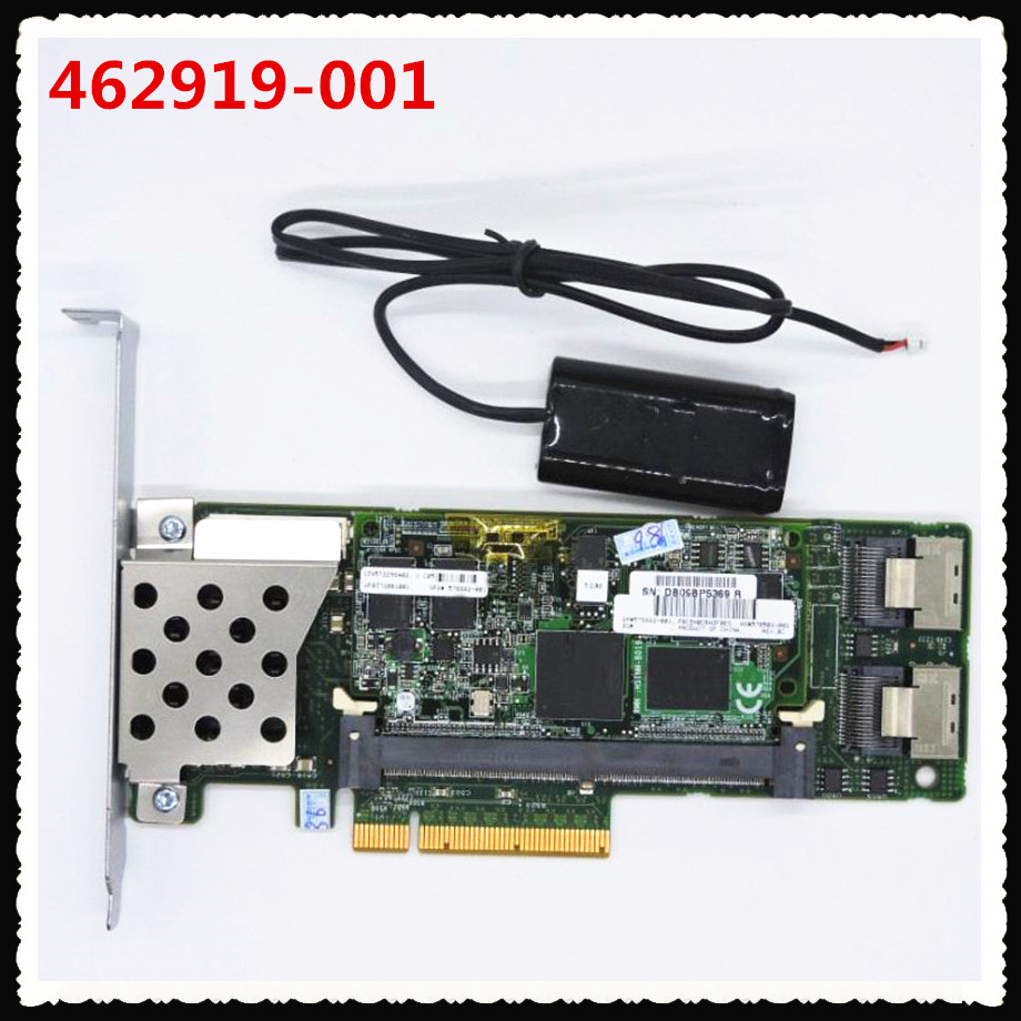 462919-001 013233-001 Array SAS P410 RAID Controller Card 6Gb PCI-E with 512M RAM megaraid 9261 8i pci e 2 0 8 port 6gb s sata sas raid controller card 512m cache