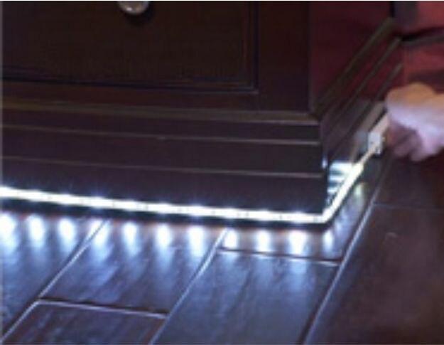 Battery operated motion sensor LED strip light Closet