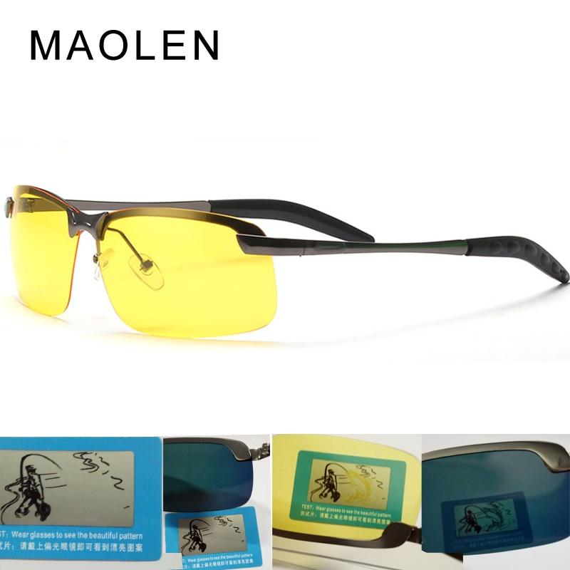 5dcf74a2f00 MAOLEN Polarized Sunglasses Car drivers night vision Goggles anti glare  Polarizer Driving Sunglass Men Sun Glasses UV400 3043-in Sunglasses from  Apparel ...