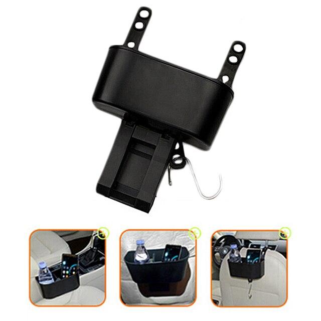 BLACK Multifunction Car Trash Can Folding Retractable Trash Bin Auto  Internal Decor Storage Box Car