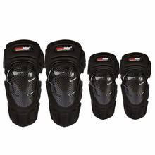 4PCS/SET Carbon Fiber Motorcycle Knee&elbow Protector Knee Guards Knee Pads
