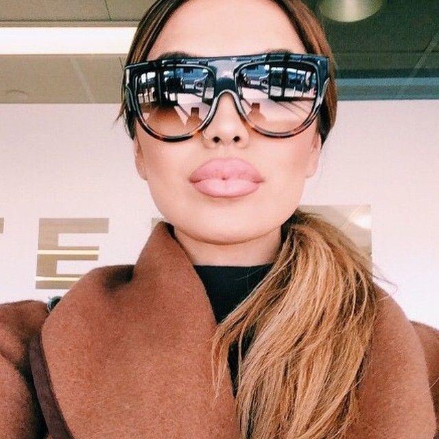 Oversized Flat Top Sunglasses  online get oversized flat top sunglasses aliexpress com