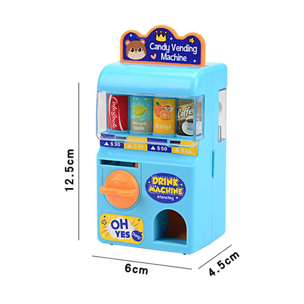 Kids Educational Toy Mini Lottery Machine Manual Rocker Rolling Coin Drink Machinery Toy Children Education Puzzle Game Supplies