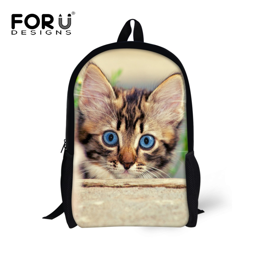 Kawaii Teenager Girls Kids Schoolbags Cute Cat Animal Prints Children School BagsWomen Shoulder Travel Book Bag Mochila Infantil