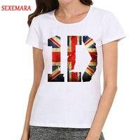 Neue Frauen Arbeiten White One Direction T-Shirt Kurzarm One Direction Logo Top Tees t-shirt Für Damen
