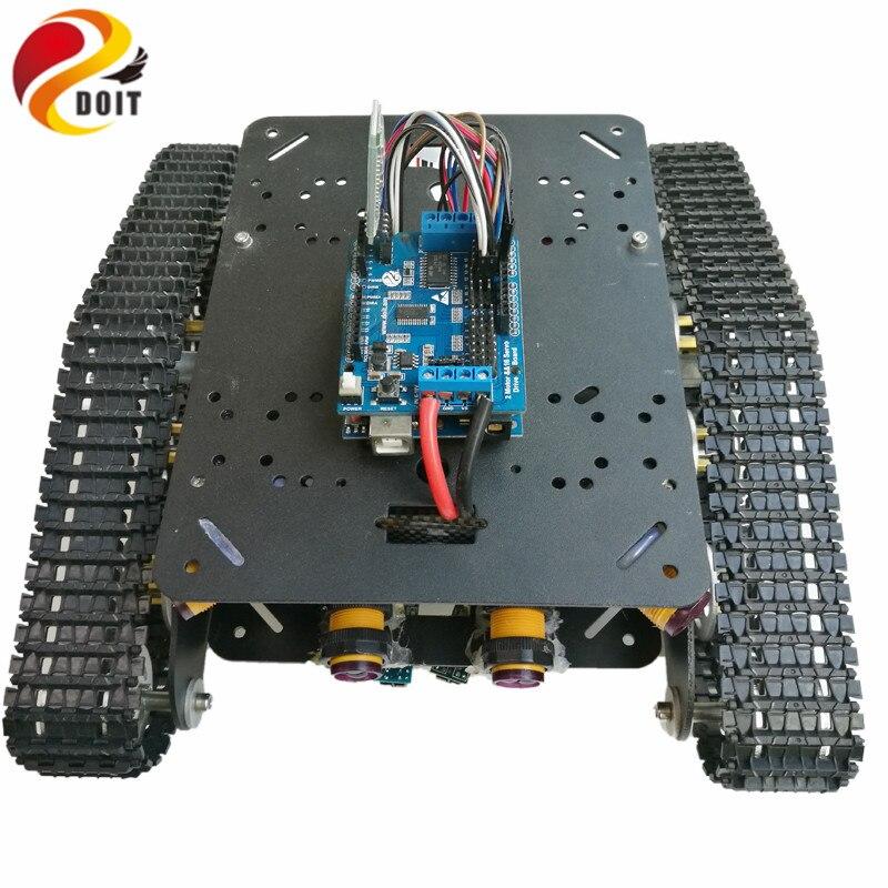 DOIT TSD300 Sterowanie Bluetooth / WiFi Crawler Tank Car Vehicle ze - Zabawki zdalnie sterowane - Zdjęcie 3