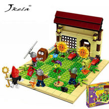 [Hot] 387pcs new ideas plants vs zombies struck game Building Blocks set Toys Compatible block toys gift for children action(China)