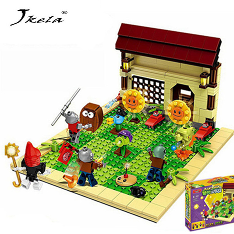 387pcs New Ideas Plants Vs Zombies Struck Game Building Blocks Set Toys Compatible Block Toys Gift For Children Action