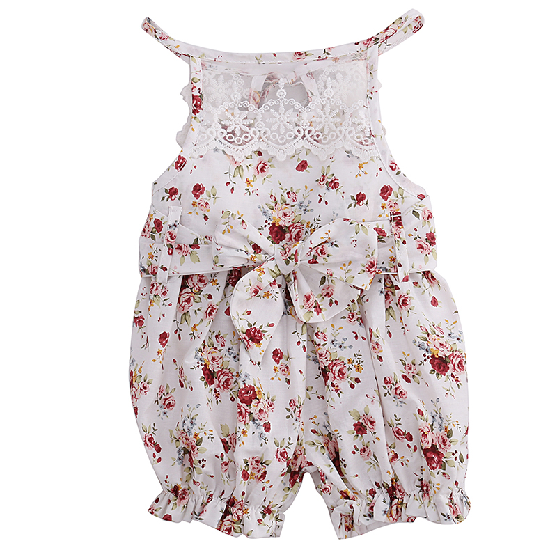 2017 Hot Summer Floral Lace Romper Newborn Baby Girls Clothes Sleeveless Sunsuit Outfits Jumpsuit 0-18M summer newborn infant baby girl romper short sleeve floral romper jumpsuit outfits sunsuit clothes
