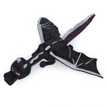 Tamaño grande 60 cm dinosaurio Minecraft Ender del dragón de la felpa negro Minecraft Enderdragon Cartoon juguetes de juego de regalo