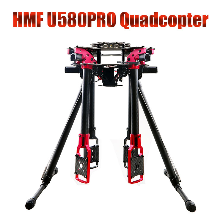 F11067 HMF U580Pro Totem Carbon Folding Umbrella RC Quadcopter Frame Kit Rack & Electric Retractable Landing Gear DIY FPV hml350pro fpv auto retractable landing gear skid controller for phantom 1 2 vision fc40 rc quadcopter diy drone f16326