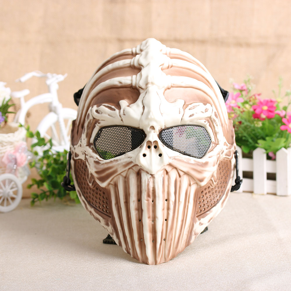 Aliexpress.com : Buy Army Spine Skull Mesh Full Face Protection ...