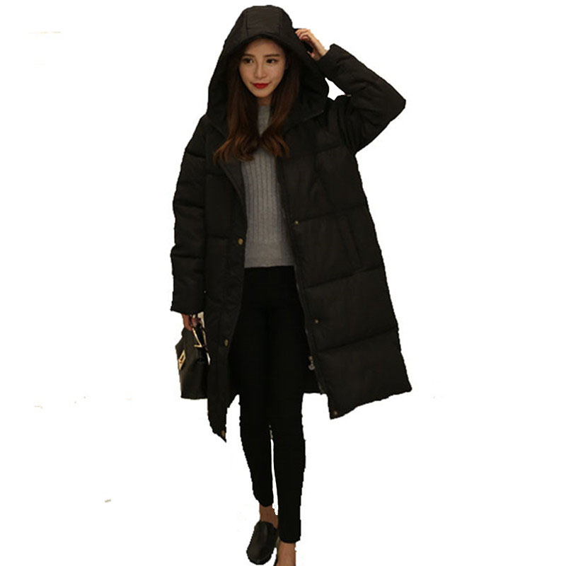 100% Polyester Soft Fabric Bio Down Hooded Coat Woman Clothes Winter Jacket With Pockets Women Down Coat Parka manteau femme hiv