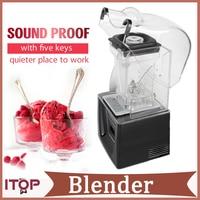 Commercial Standard Blender Smoothie Maker 1500ml with 5 functions Black 110V/220V/240V