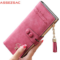 Assez Sac Hot Sale Women Wallets Femal Fashion Leather Bags Card Holders Women Wallet Purse Bolsas